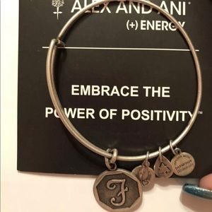 Alex and Ani F charm Silver